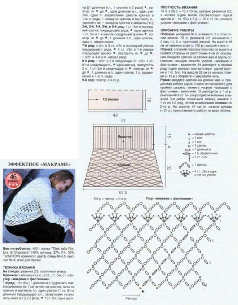 описание вязания кофты с закругленным низом
