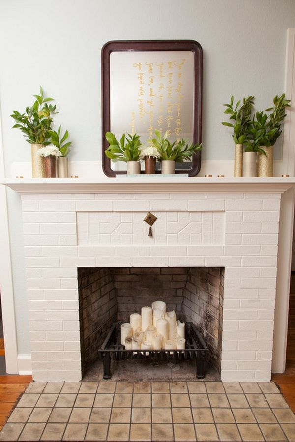 Unused Fireplace ideas to decorate the fireplace in summer | room decorating ideas
