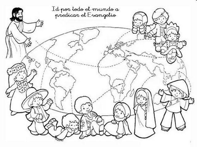 Libro Para Colorear Madre Hija Ilustraciones Vectoriales Clip: Spanish Text Coloring Page Bible