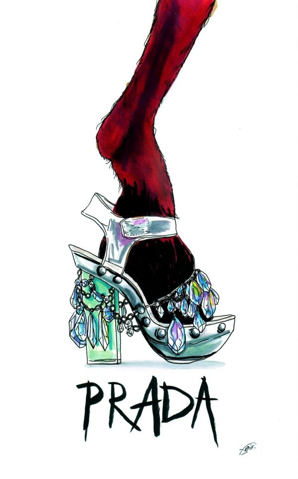 prada shoes funny looking animals clipart frame
