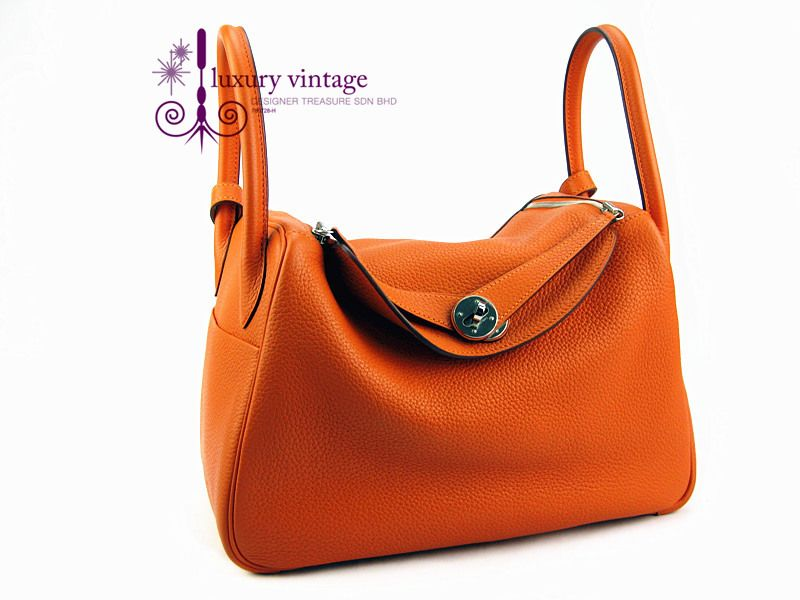 eade2bdd97a8  Hermes Lindy 30 Orange Color Clemence Leather With Palladium  refcode-YESK-3 More information pls contact us ☺