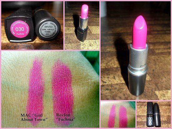 MAC Girl About Town Lipstick Swatches:-