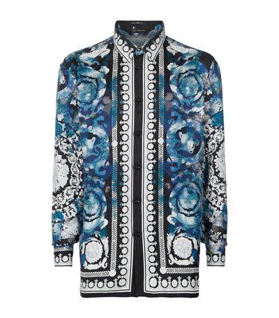 VERSACE Watercolour Baroque Silk Shirt.  versace  cloth     Versace ... 0a78769eaae