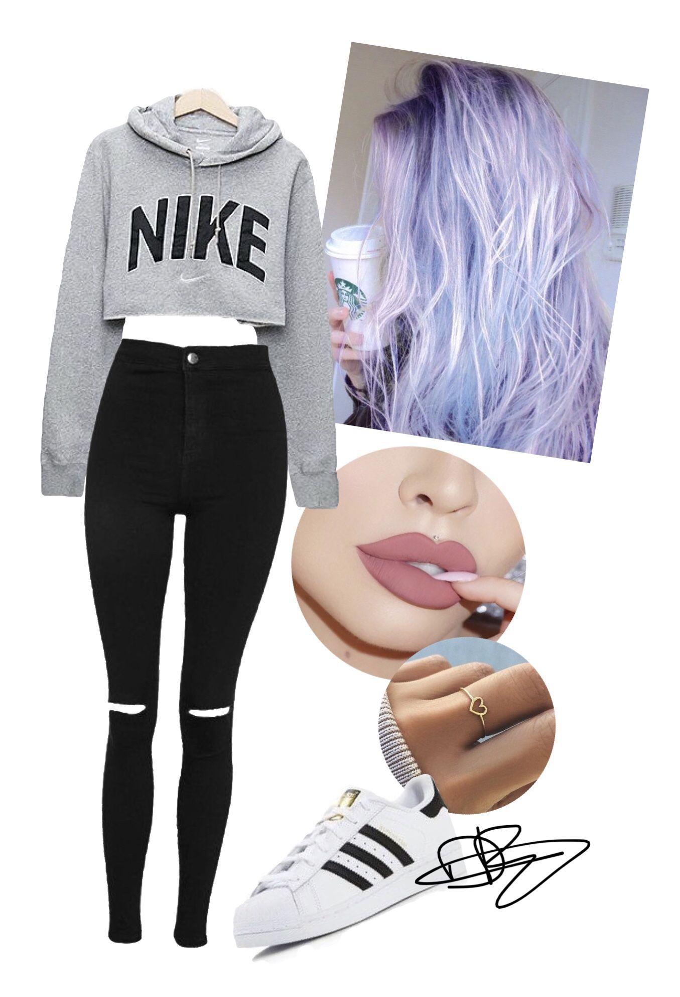 bd2a7c976e2 Tumblr clothes crop hoodie outfit hair