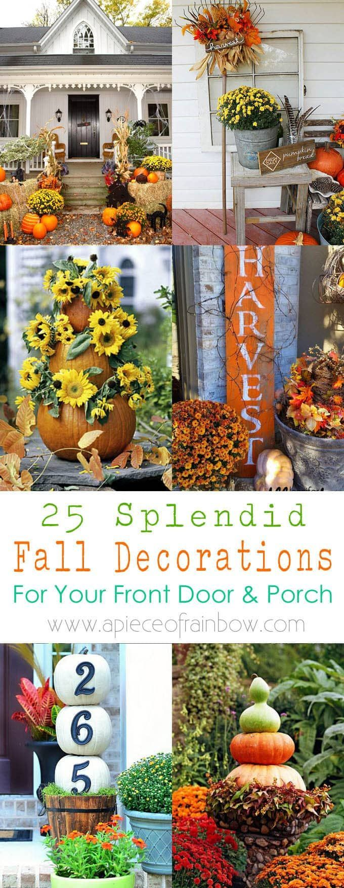 25 splendid DIY fall outdoor decorations for your front porch and door: super creative ideas using p...