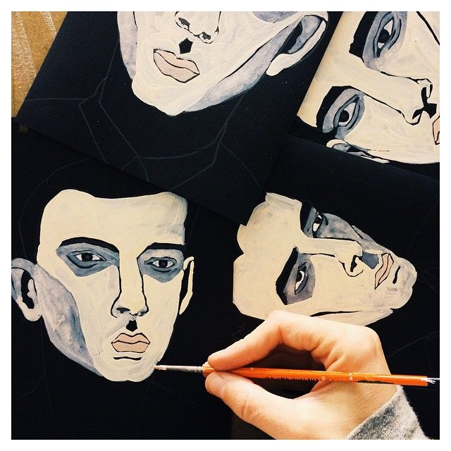 #carlafuentes #littleisdrawing #illustration #art #drawing #black #portrait