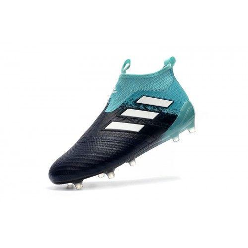 best website 9f87c 3dfc3 Adidas ACE - Barato 2017 Adidas ACE 17 PureControl FG Hombre Negro Azul  Botas De Futbol