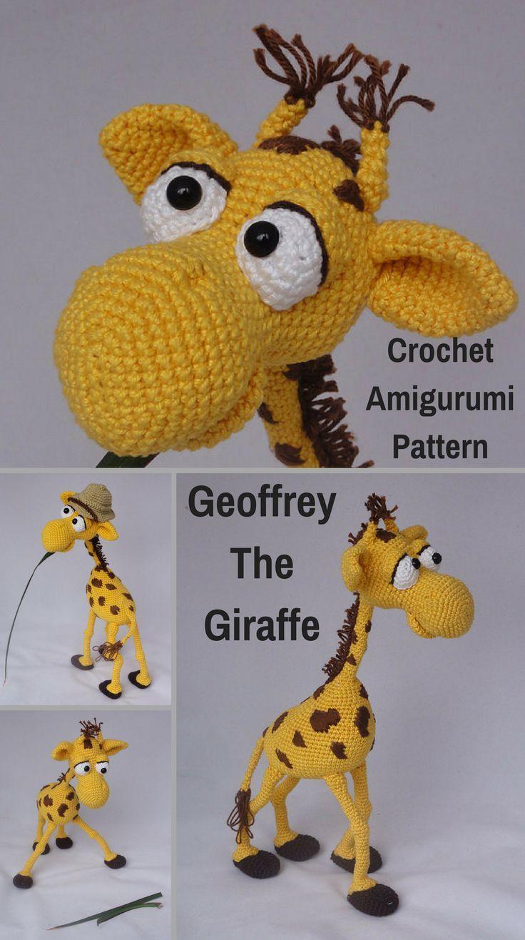 Geoffrey the Giraffe is a crocheted amigurumi doll that would love ...