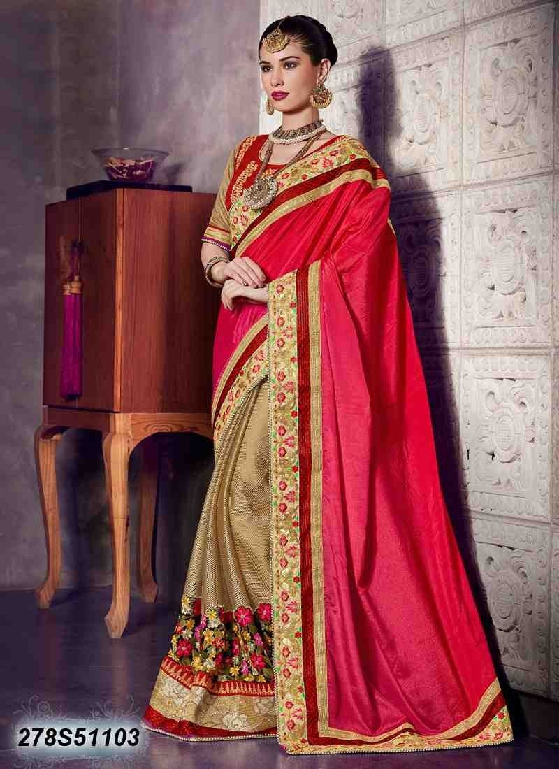 Saree for freshers party in college buy vibrant beige colored chinnon saree get  off on casual sarees