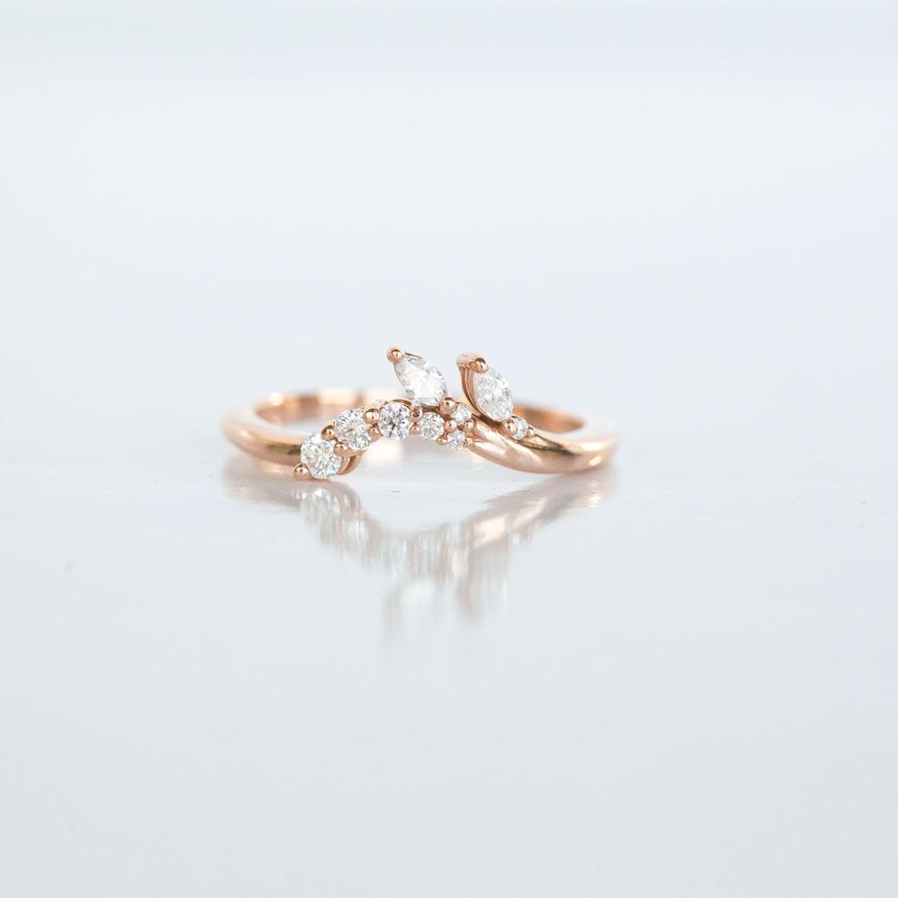 Elegant Diamond Contour Wedding Band Contour Wedding Band Wedding Rings Vintage Wedding Rings Simple