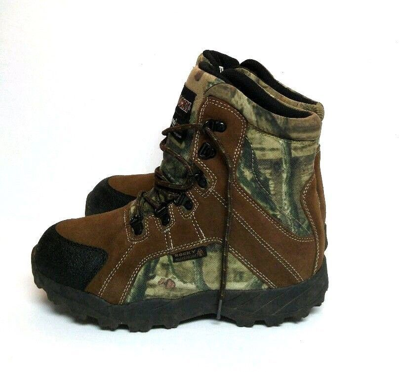 Rocky Youth Boys 5 Hunting Boot Brown Camo Thinsulate Winter ...