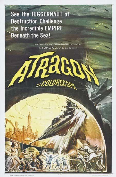 atragon #horror #movie #poster #illustration