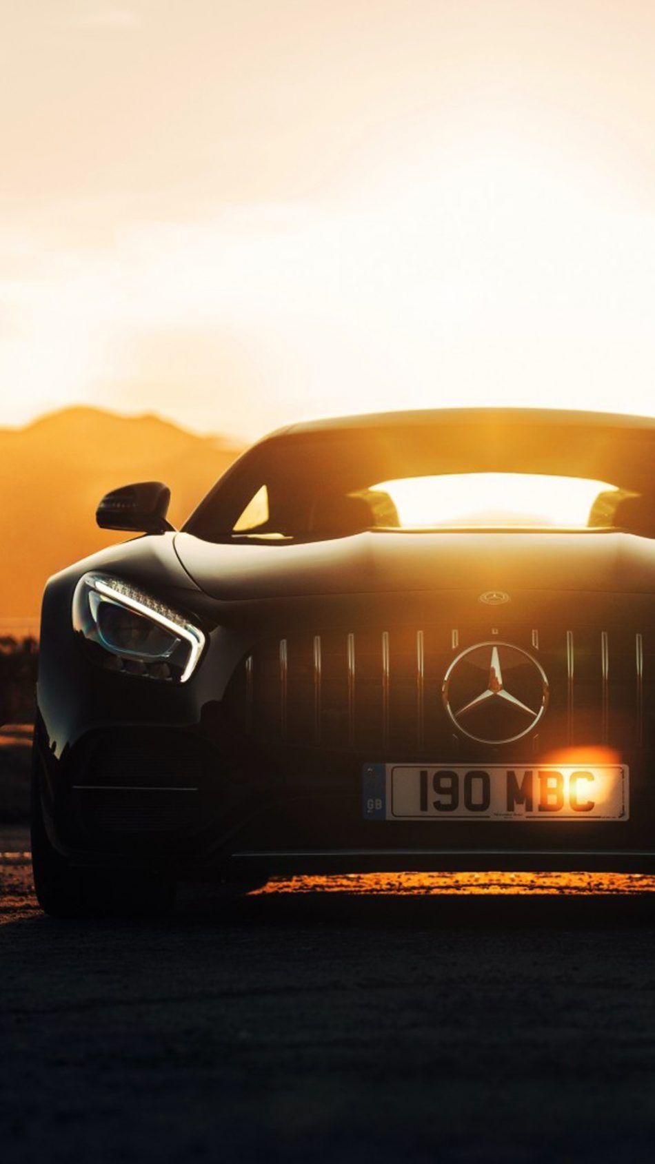 Mercedes Amg Gt C Sports Car Sunset Mercedes Amg