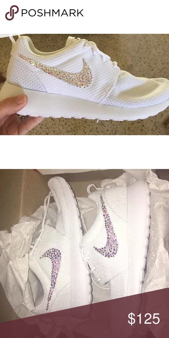 buy popular 02aca 6374d Custom Swarovski crystal nike roshes Beautiful Swarovski crystal nike roshes  any size available Nike Shoes Athletic Shoes