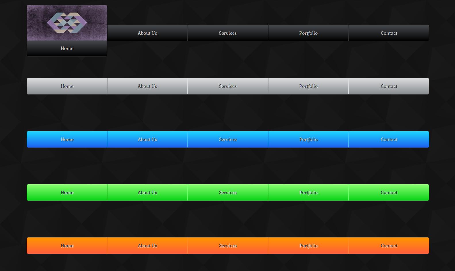 Free Animated Responsive CSS3 HTML5 Image Slide Up Menu Template ...