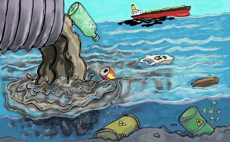 How Does Water Pollution Affect Humans What Can You Do Water Pollution Pollution Trash Art