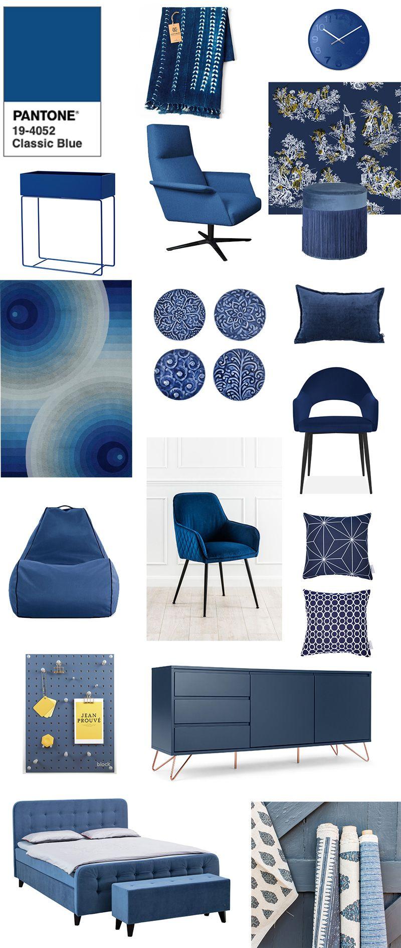 Si chiama Classic Blue ed è il colore che l'Istituto Pantone ha scelto per il 2020. Declinato in 5 palette di abbinamento con altri colori di tendenza, segna un ritorno al classico dopo i colori vivaci degli ultimi anni. #Pantone #ClassicBlue #colortrend2020 #2020 #colors #blue #moodboard #interiors