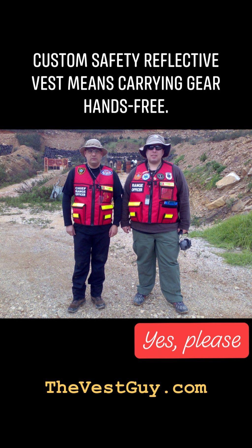 Custom range officer reflective vest by the vest guy