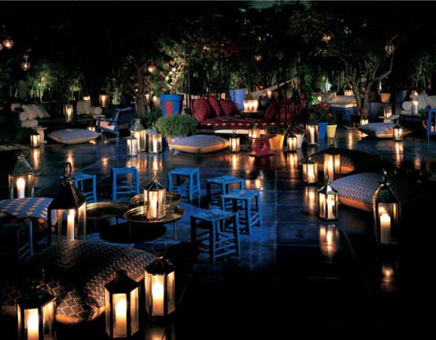 Shore Club   South Beach, Miami. The Redroom Garden At Skybar Is Worth  Lounging In. This Is Where I Fell In Love With Floor Candle Lamps.