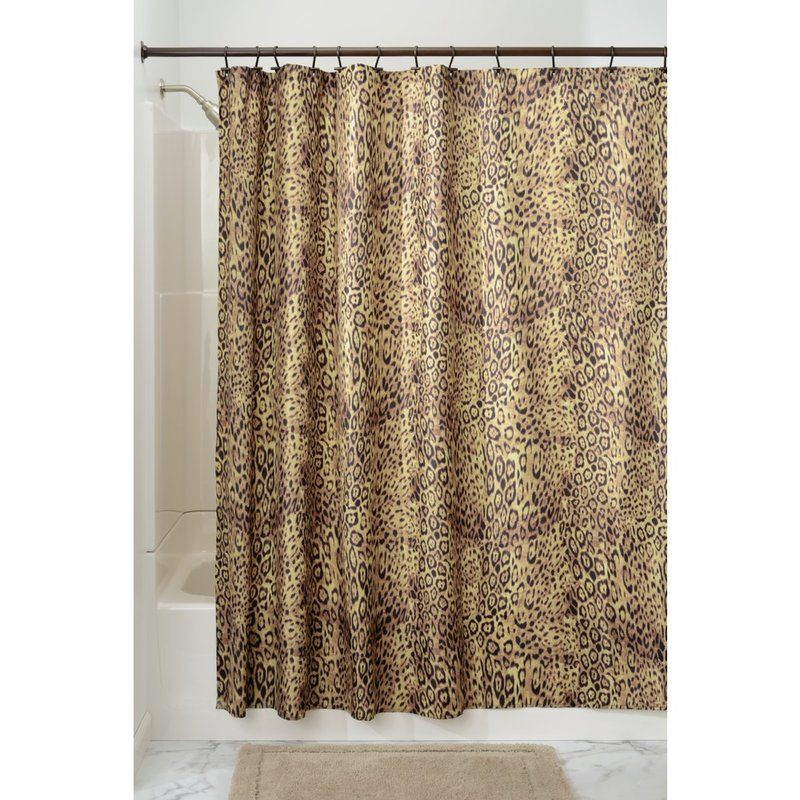 Cheetah Shower Curtain With Images Shower Curtain Fabric