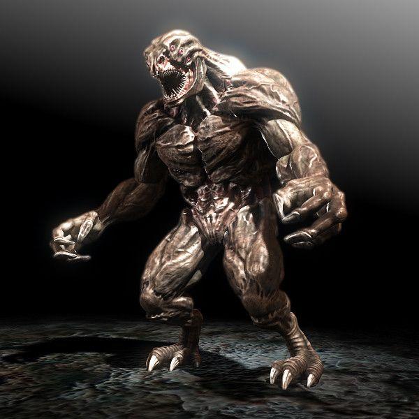 monster creature 3d model - za...