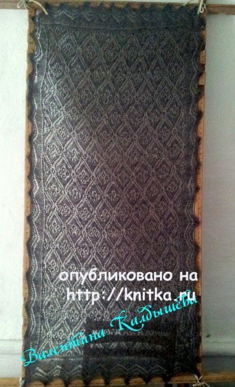 как связать пошагово оренбургский платок спицами