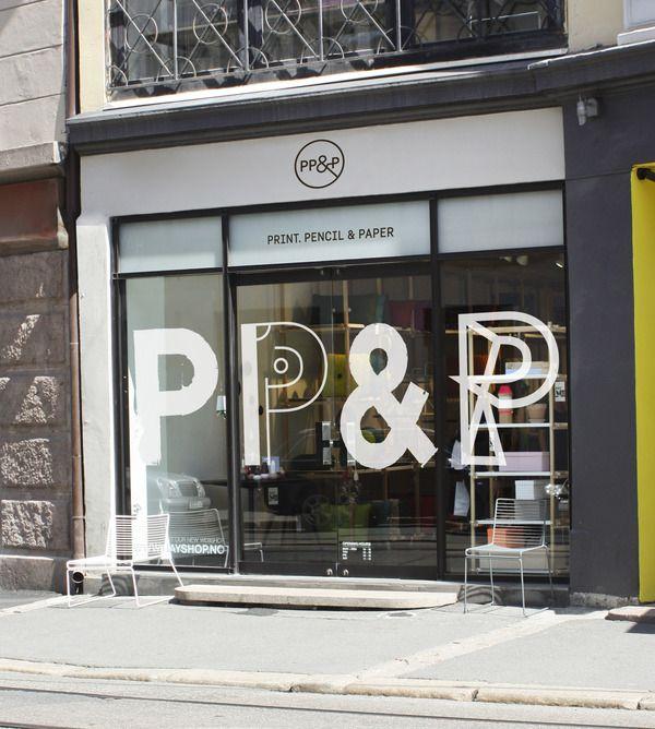 Shop Front Design Retail: Print, Pencil & Paper By Sofie Platou, Via Behance