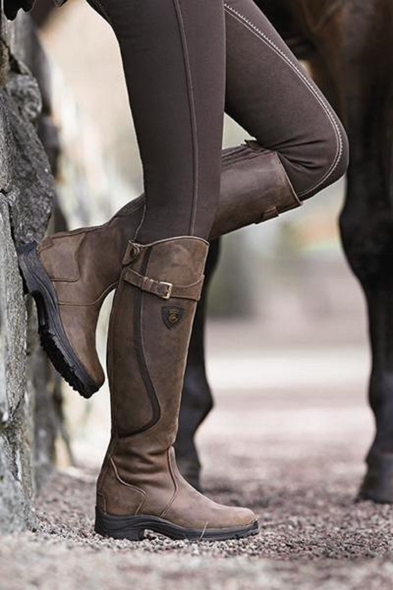 100% high quality classic the cheapest Mountain Horse Winter Riding Boots faux fur lined ...