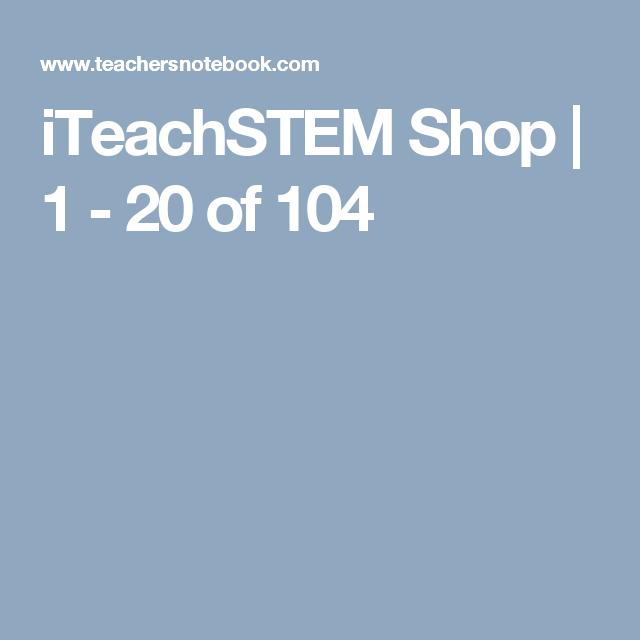 iTeachSTEM Shop | 1 - 20 of 104