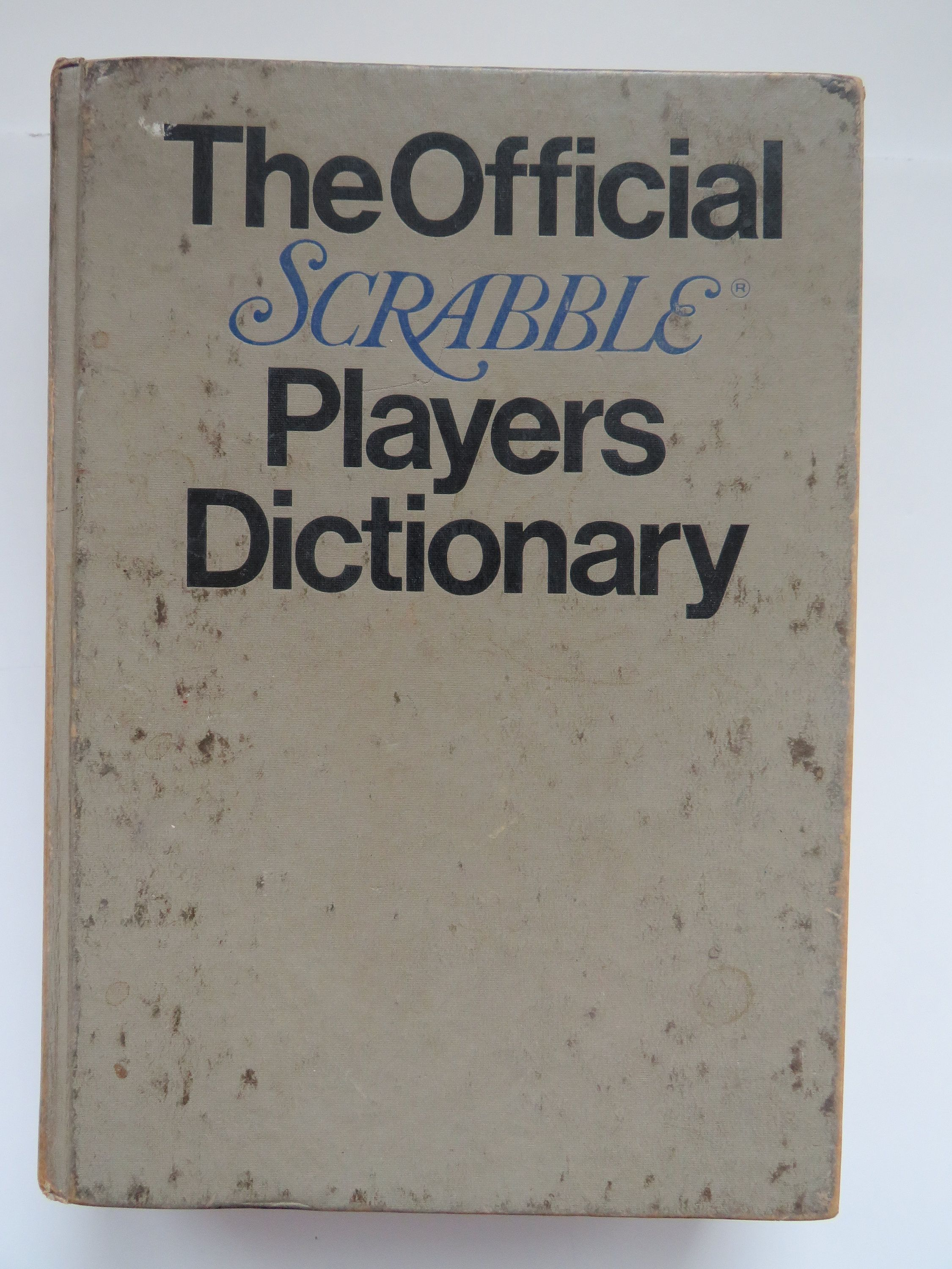 1978 The Official Scrabble Player's Dictionary by G.C