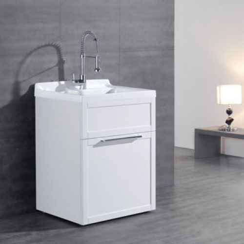 New Ove Daisy All In One Laundry Tub And Cabinet White Utility Sink With Cabinet And Faucet Features Csa Laundry Bathroom Combo Utility Sink Sink Faucets