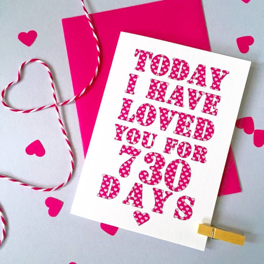 Personalised Days I've Loved You Card