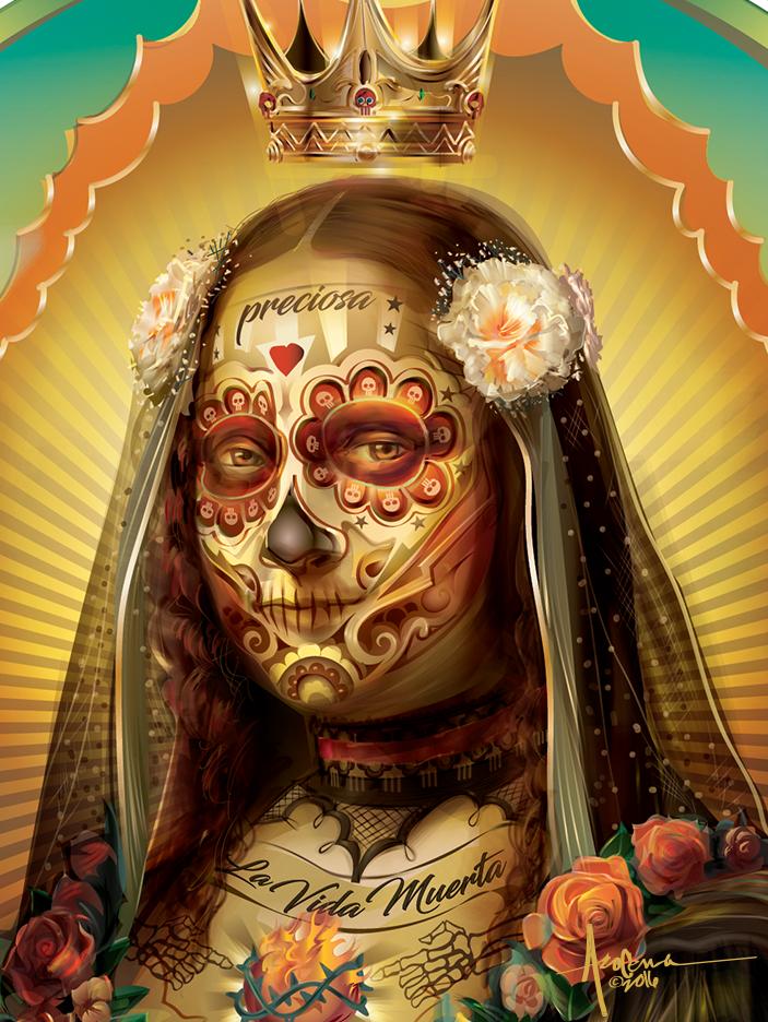 La Preciosa y la Vida Muerta vector art created to help
