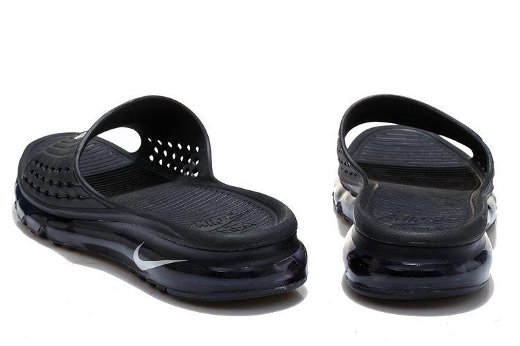 site réputé 00831 a34cc 2015 Nike Air Max Flip Flop for men in Black White | Sandale ...