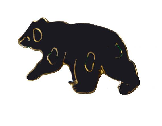 """BLACK BEAR lapel cloisonne vintage enamel pin by VintageTrafficUSA  11.00 USD  A vintage bear pin! Excellent condition. Measures: approx 1"""" -------------------------------------------- SECOND ITEM SHIPS FREE IN USA!!! LOW SHIPPING OUTSIDE USA!! VISIT MY STORE FOR MORE ITEMS!!! http://ift.tt/1PTGYrG FOLLOW ME ON FACEBOOK FOR SALE CODES AND UPDATES! http://ift.tt/1P57awb OR FOLLOW ME ON TWITTER! https://twitter.com/VinTrafficUSA THANK YOU! VIN and ZOE"""