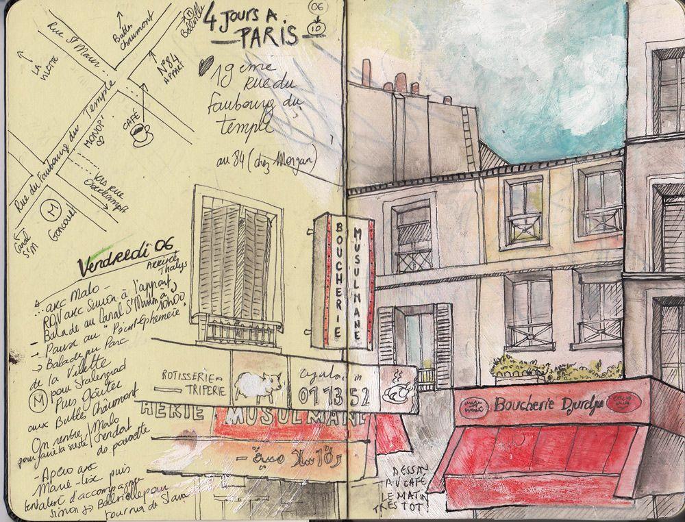 Juliette Delpech | #sketchbook #travel | Paris 19e