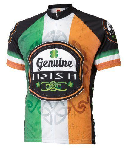 Genuine Irish Ireland Cycling Jersey by World Jerseys Mens Large Short  Sleeve     For more information dda7cee98