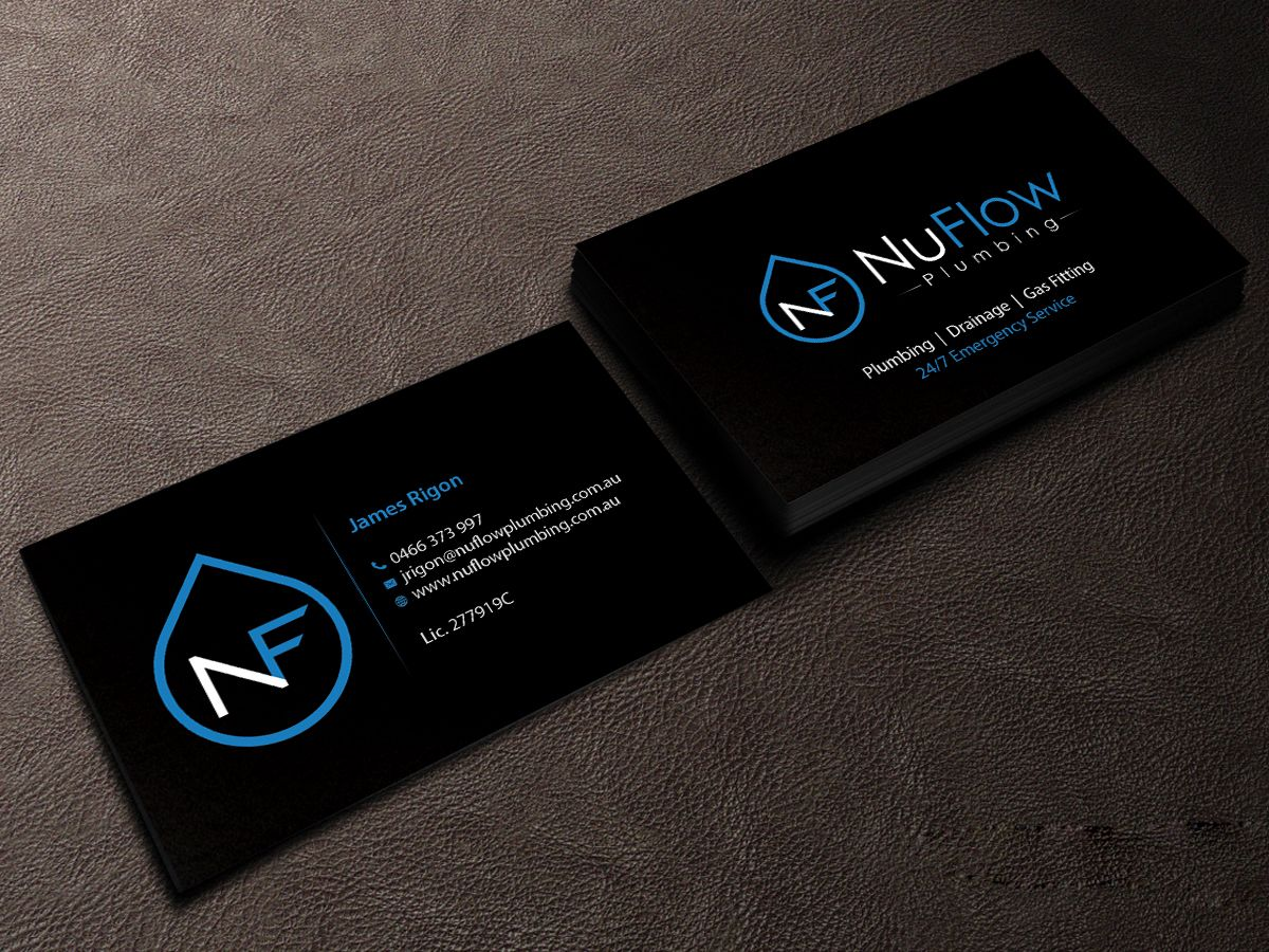 250 Modern Business Card Designs Plumbing Business Card Design Project For A Business In Australia Business Card Design Business Card Design Creative Modern Business Cards Design