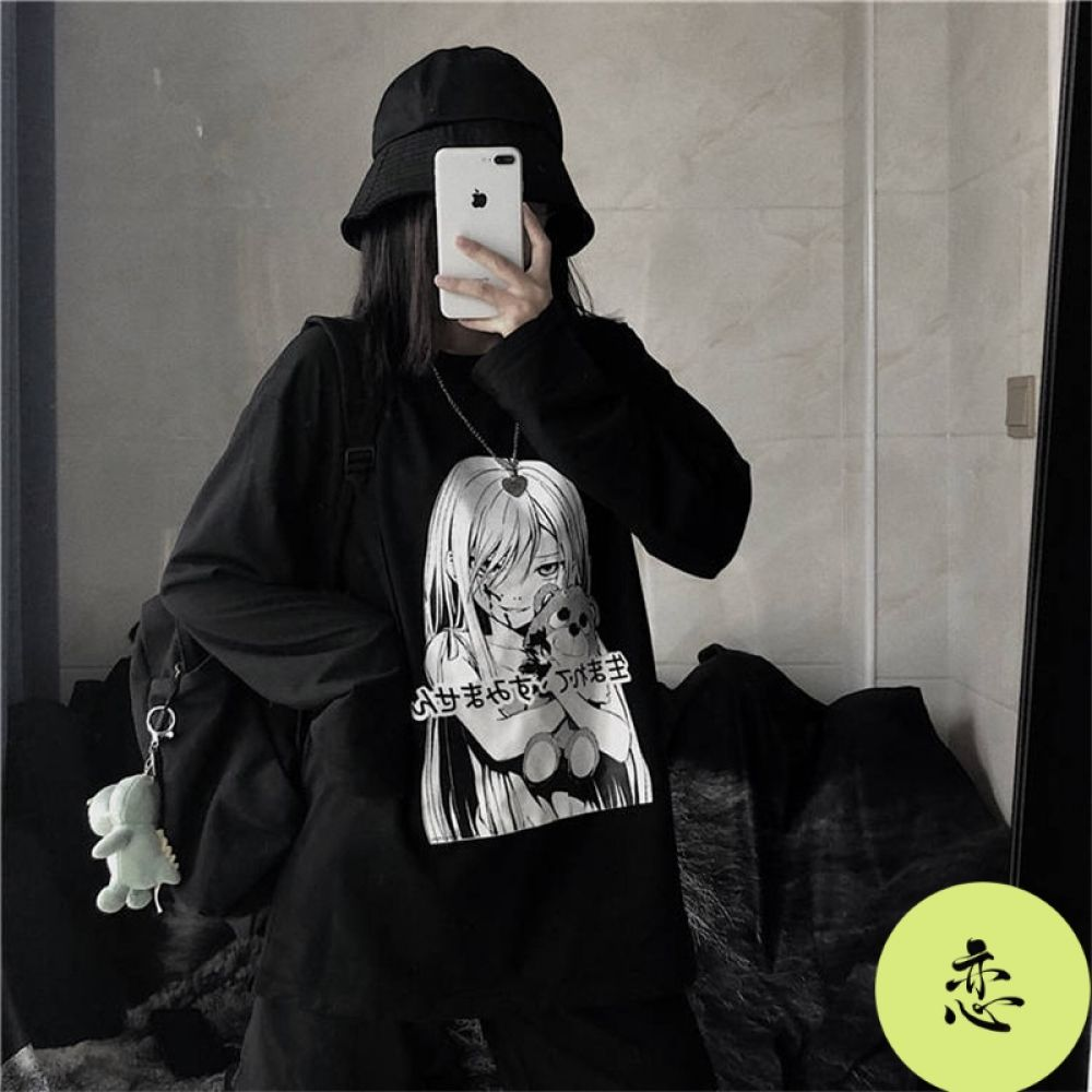 Dark Anime Sweatshirts Shop Your Kind In 2020 Anime Inspired Outfits Aesthetic Grunge Outfit Grunge Outfits