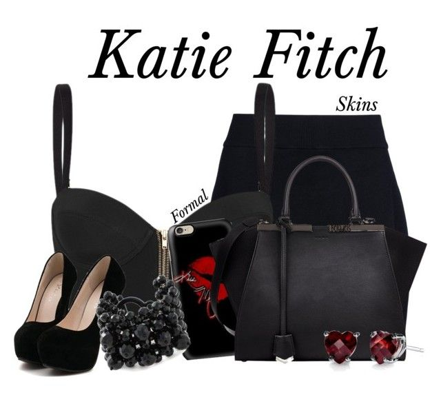 """""""Katie Fitch"""" by belladels ❤ liked on Polyvore featuring A.L.C., sass & bide, Fendi, Jozica, black, skins, katiefitch, belladels and skinstv"""