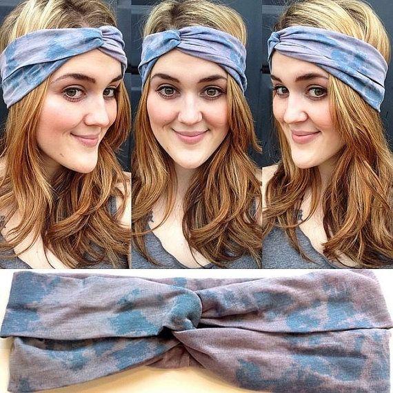 Headband marble white in turban look