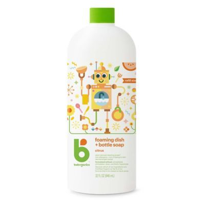 Babyganics 32 Oz Citrus Foaming Dish Bottle Soap Refill