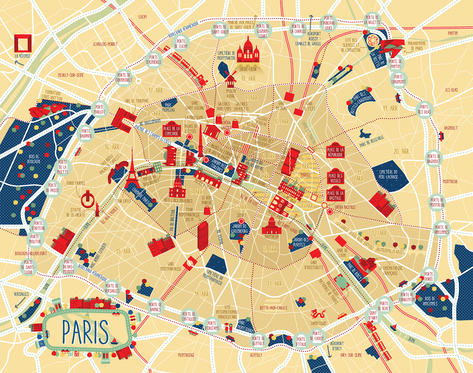 Image by Iew Gnahz on map Paris map, Illustrated map