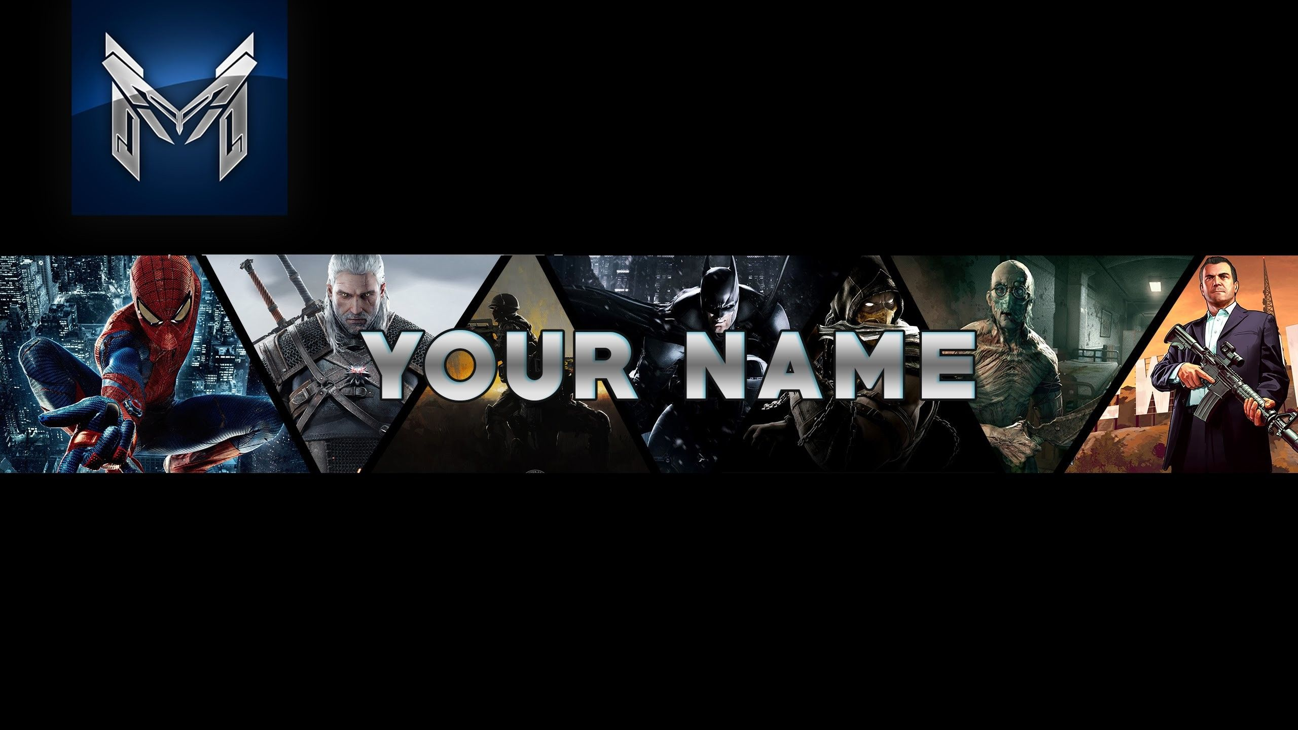 Free] youtube banner template psd 2014 clean design 1920x1080. Free Fire Gaming Channel Art 2048x1152
