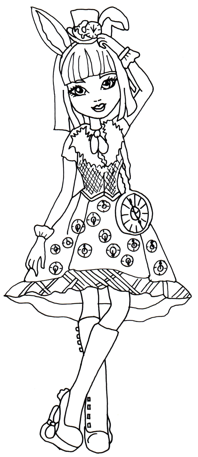 Printable coloring pages bunnies - Free Printable Ever After High Coloring Pages Bunny Blanc