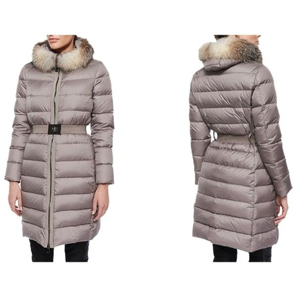 Pre owned Moncler fabrefox Coat With Genuine Fox Fur Ruff