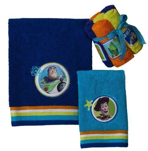 19 99 29 Baby Toy Story Buzz Lightyear Blue Embroidered Bath Towel 28
