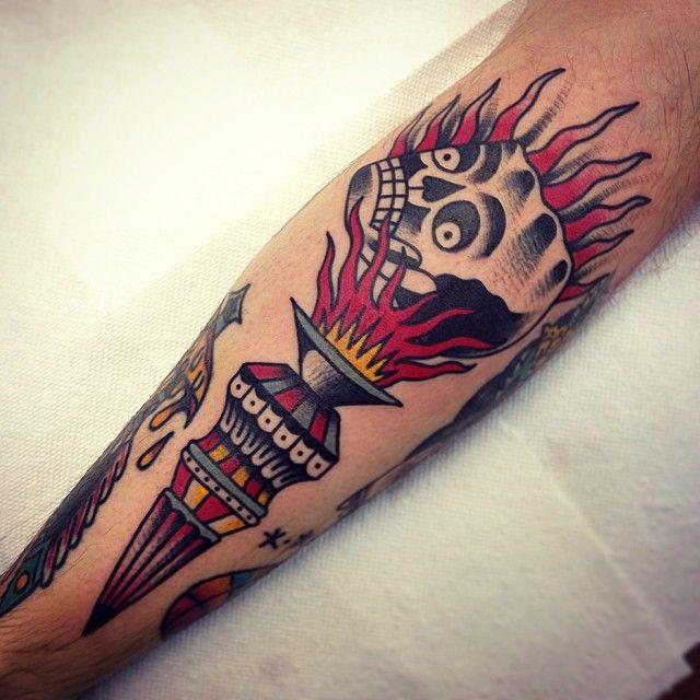 Burning Skull   http://tattooideas22.com/burning-skull/