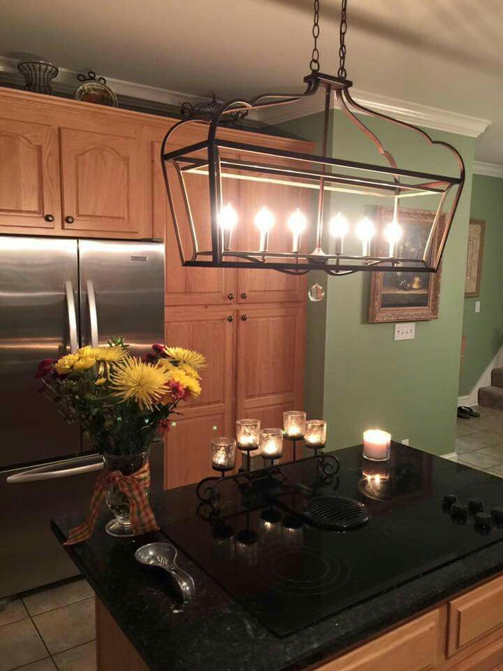 Light over bar   Updated kitchen, Ceiling lights, Home decor