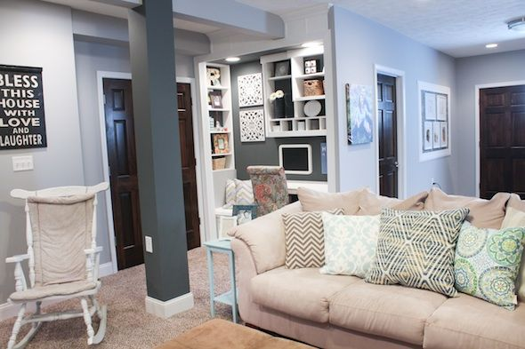 finished basement ideas - before & after | project: front room